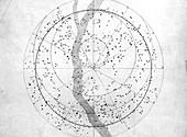 Southern hemisphere sky map,1603