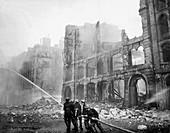 WWII air raid damage,London,1941