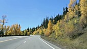 Driving through New Mexico in autumn