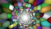Molecular tunnel, abstract animation