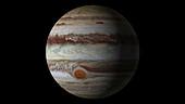 Jupiter's atmosphere in motion