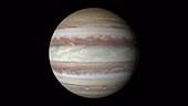 Jupiter rotating, Hubble imagery