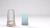 Thin-layer chromatography, animation