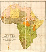 Map of the languages of Africa,1883