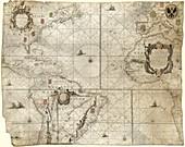 Map of the Atlantic coasts,1660