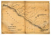 Map of Liberia,1830