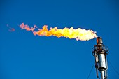 Oil terminal flaring off gas