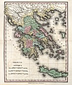 Map of Ancient Greece,19th century