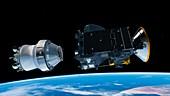 ExoMars spacecraft deployment,artwork