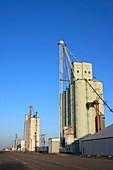 Grain silos in Texas