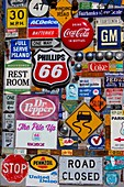 Route 66 signage display