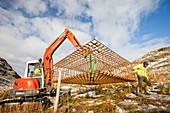 New wind turbine construction work