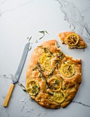 Lemon and rosemary focaccia