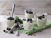 Mascarpone cream with blueberries