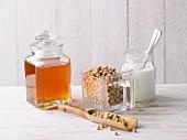 Honig, Smoothie und Joghurt (Inhaltsstoffe von Almased)