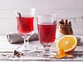Orange and pomegranate punch
