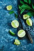 Limes and mint