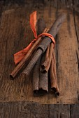 Cinnamon sticks, tied in a bundle