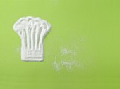 Zucker in Form einer Kochmütze