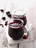 Blackberry jam with dark chocolate