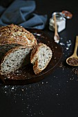 Wholemeal bread with flax seeds