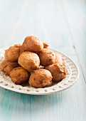 Bunuelos (deep-fried Spanish pastries)