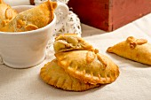 Homemade empanadas with a pork and apple filling