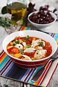 Fish stew with tomatoes