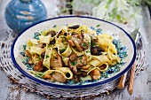 Papardelle with mushrooms