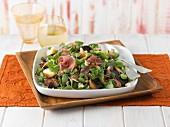 Parma ham salad with Stilton cheese