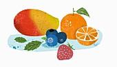 Verschiedene Früchte (Illustration)