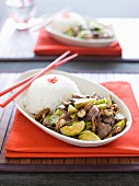 Stir-fry Beef with Brussels Sprouts and Walnuts