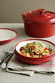 Farfalle with Eggplant and Tomatoes