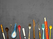 Cutlery from various countries
