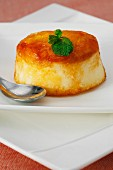 Mango and coconut flan