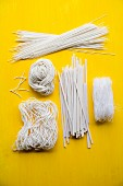 Various types of dried rice noodles