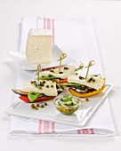 Vegetable boats made with grilled vegetables, buffalo cheese and green pepper