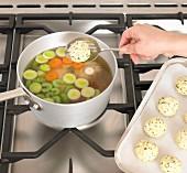 Chicken Broth with Parsley Dumplings