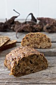 Spiced fruit bread with dried pears