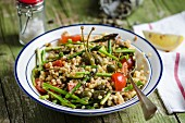 Fregola salad with vegetables