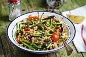 Fregola salad with vegetables