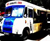 Food Truck auf dem Parkplatz