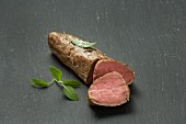 Veal fillet, sliced