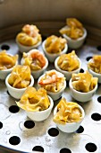 Khanom Jib (stuffed wontons in small bowls, Thailand)