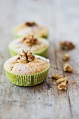 Gluten-free vegan apple and nut muffins