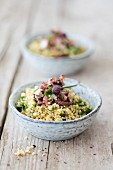 Wholemeal millet salad with parsley and tuna fish