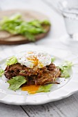 Celeriac and Potato Cakes with Poached Eggs