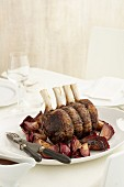 Standing Rib Roast Beef with Caramelised Onion