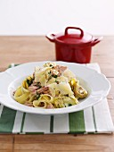 Fettucine with Tuna and Artichoke