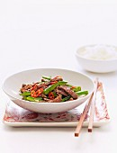Stir-Fried Beef Strips with Capsicum